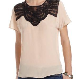 Cream lace blouse Lil Anthro Jukka blouse nwt
